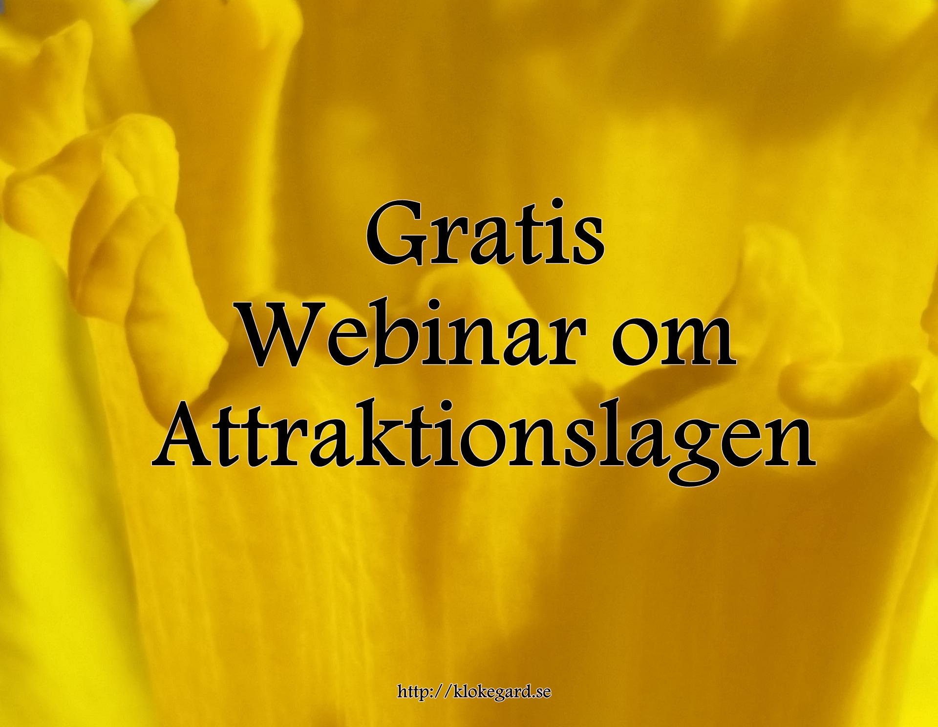 Gratis Webinar om Attraktionslagen varje onsdag