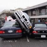 Rocka fett på parkeringsplatsen!
